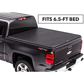 Fits 6.8 Bed Tonno Pro LR-3095 Lo-Roll Black Roll-Up Truck Bed Tonneau Cover/for 2017-2019 Ford F-250//F-350 Super Duty