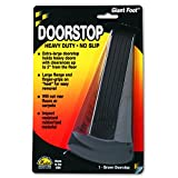 "Master Giant Foot No-Slip Doorstop -2"" Door Clearance -Non-skid Base,Prevent Scratches -Rubber -2""x3.5""x6.3"" -Brown"