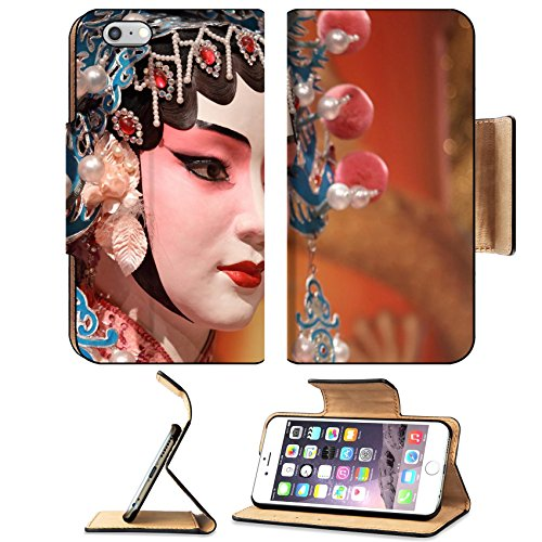 [MSD Premium Apple iPhone 6 Plus iPhone 6S Plus Flip Pu Leather Wallet Case iPhone6 Plus IMAGE ID: 10495430 chinese opera dummy and red cloth as text space it is a toy not real] (Magnificent Movie Costume)