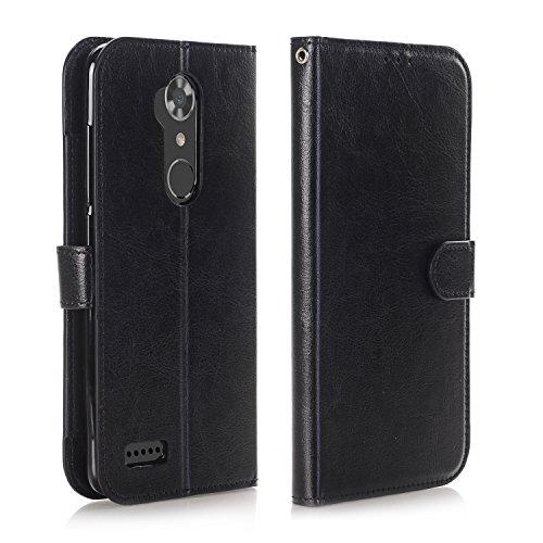 Cheap ZTE ZMAX Pro Case, ZTE ZMAX Pro Wallet Case, ZTE Carry Z981 Case, Alkax Slim Card Holder with Kickstand Hybrid Shockproof Phone Case Leather Protection Flip Cover For ZTE ZMAX Pro Z981 +Stylus (Black)