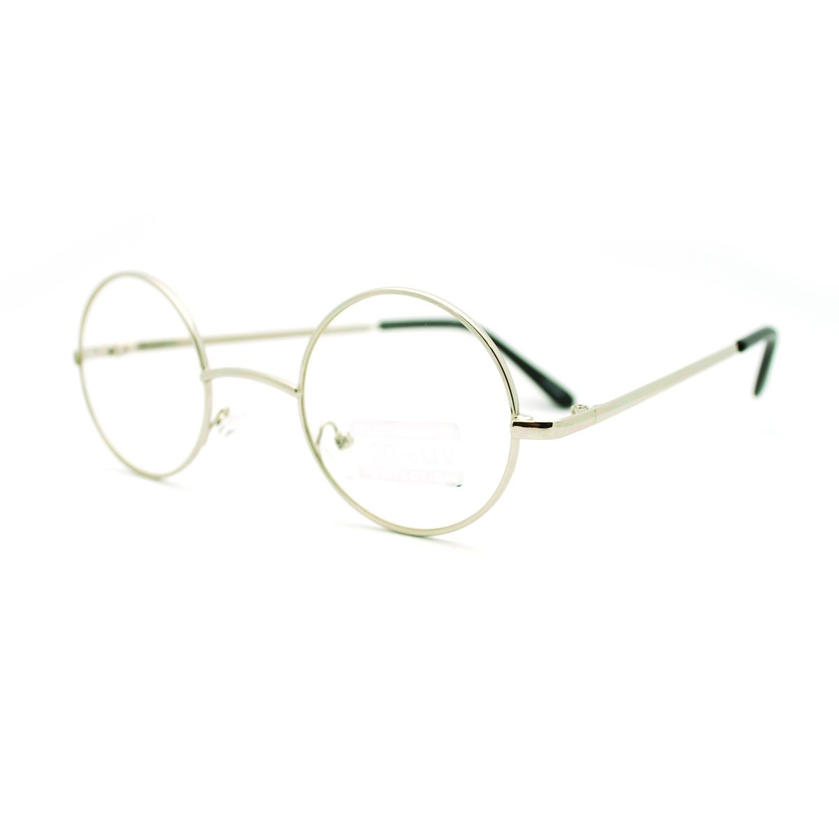 40ae8745b1d Round Circle Clear Lens Eyeglasses Small Size Thin Frame Unisex Glasses