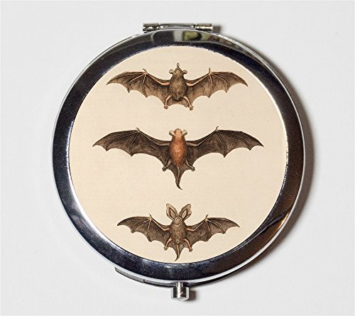 Victorian Bats Compact Mirror Goth Bat Vampire for Makeup Cosmetics ()