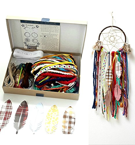 Colorful Make Your Own Dream Catcher Craft Kit Do It Yourself Home Decor Project Gift In A Box from The House Phoenix
