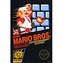 Super Mario Brothers Game Box Video Gaming Poster 12x18