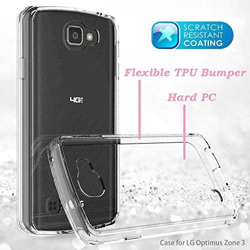 LG Optimus Zone 3 / LG Spree / K4 / Rebel Lte Clear Case
