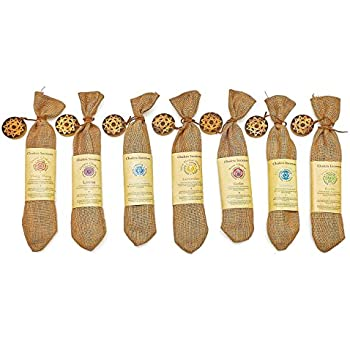 Genuine Chakra incense sticks 210 sticks with a holder, variety pack of 7 wonderful flavors,Ylang lang,Jasmine,Eucalyptus,Rose,Cedar,Lavender,And Lotus.