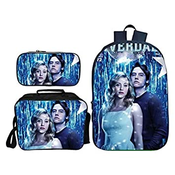 edf29e39ceea Amazon.com : Unlimitedfy Riverdale Backpack Schoolbag Pencil Case ...