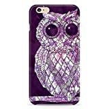 Inspired Cases 3D Textured Vintage Purple Damask Owl Case for iPhone 6 & 6s