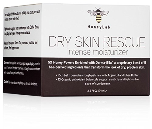 (Honeylab Dry Skin Moisturizer Balm with Manuka Honey, Shea Butter, Argan Oil, Acai, Goji Berry. Moisturizing cream for face and body helps with uneven skin tone, fine lines, and wrinkles. 2.5oz)