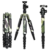 Andoer® 29MM Carbon Fiber Travel Tripod with Ball Head Camera Unipod Compact Monopod Camouflage for Canon Nikon Sony DSLR Camera