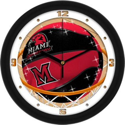 SunTime NCAA Miami Univ. Redhawks Slam Dunk Wall Clock]()