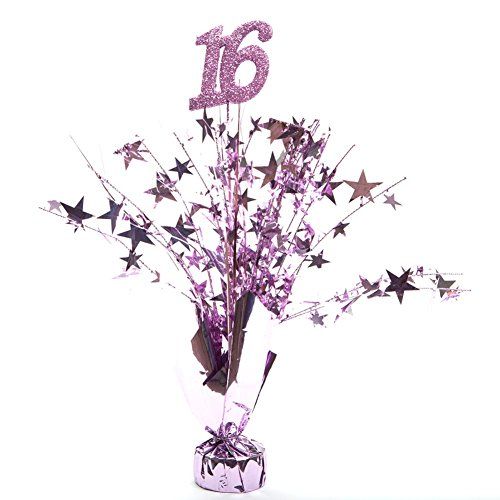 Party Deco Pink 16 Birthday Centerpieces -pkg/6 ()