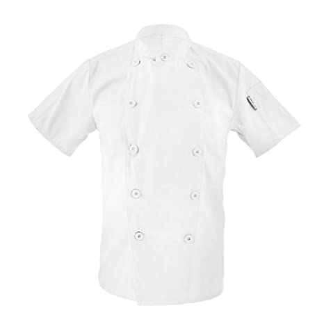 Ropa Traje Chaqueta De Cocinero Para Hombres - Blanco, M