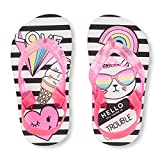 The Childrens Place Kids TG Striped Cat F Flat Sandal