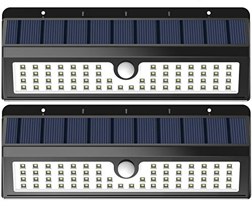 Lemontec Solar Lights, 62 LED Wall Solar Light Outdoor Secur