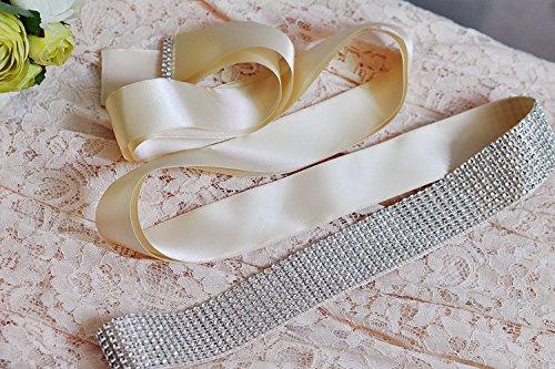 Wedding Brown Bridal Belts Women's for Belt Azaleas Rhionstone Sashes Wedding Sash waqSXBaO