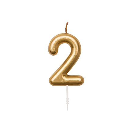 Perles & Co Vela para cumpleaños cifra 2 Yey - Lets Party ...