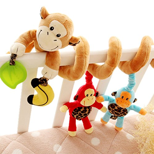 Happy Cherry Baby Plush Toy Activity Spiral Toy Stroller Bed Car Seat Toy