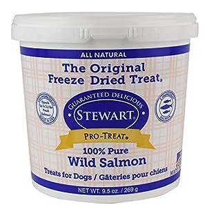 Stewart Pro Treat Raw Naturals by 9.5 oz Wild Salmon Dog Treats (1 Can)