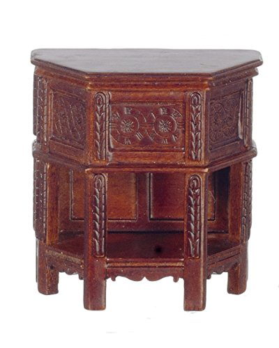 Melody Jane Dollhouse Tudor Bedside Side Cabinet Miniature JBM Walnut Quality Furniture by Melody