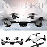 Christmas Drone, Leewa YH-19HW Wifi FPV Camera Foldable 2.4G 6-Axis Selfie Quadcopter Drone Toys (White - 0.3MP)