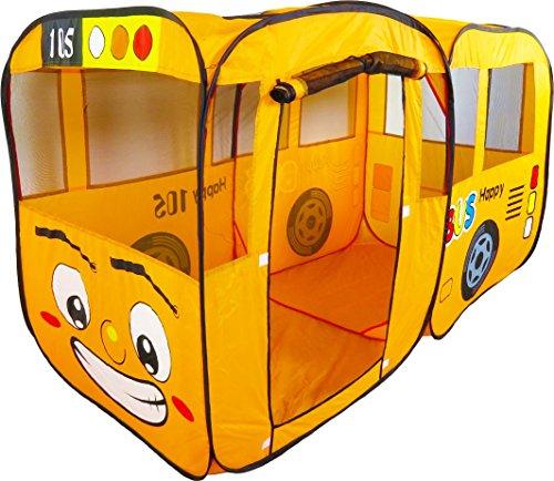 Spielzelt XXL Bus in orange / POP-UP mit Boden