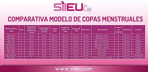 Copa Menstrual Sileu Cup Soft - Mujeres con Vejigas sensibles, calambres, cólicos menstruales - Ayuda a prevenir cistitis - La más vendida en ...