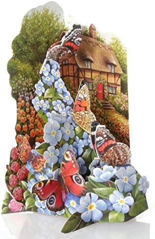 Tarjeta de felicitación 3D El jardín de las mariposas - Ampersand Studio: Amazon.es: Oficina y papelería