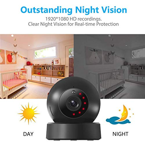 Indoor Security Camera, VICTONY Wireless 1080P Home Camera, WiFi Home Surveillance IP Camera for Baby/Elder/Pet/Nanny Monitor, Pan/Tilt, Two-Way Audio & Night Vision(E24) by VICTONY (Image #2)