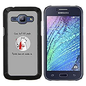 Stuss Case / Funda Carcasa protectora - Divertido oso del asesino - Samsung Galaxy J1 J100