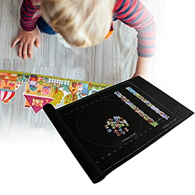 Premium Wool Blend ROLL UP Puzzle MATS for Jigsaw Puzzles. RQWEIN Wool Felt lays Perfectly Flat Comes Rolled & not Folded. Fits 500 1000 1500 Piece Jigsaw Puzzles: Kitchen & Dining