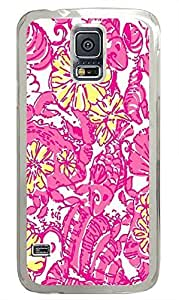 case mate Samsung S5 cover Girly Pink Flower Best PC Transparent Custom Samsung Galaxy S5 Case Cover