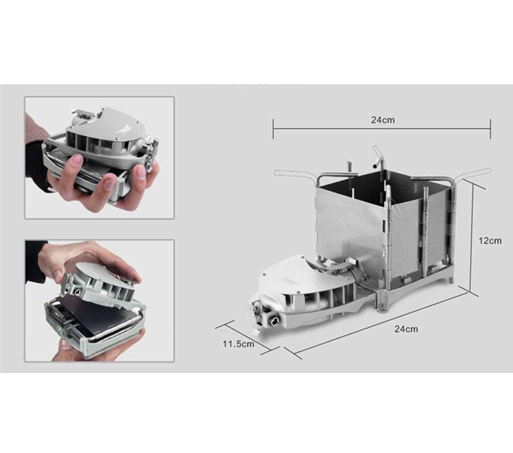 MCLJR Camping Stove Wood Stove With Blower System Portable Stainless