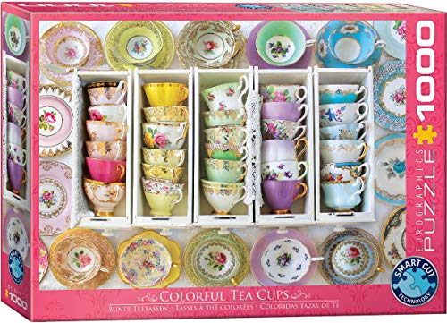 Tea Cups Boxes 1000 Piece Jigsaw Puzzle