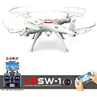 Cszlove Wifi FPV UAV 2.4Ghz 4CH 6-Axis Gyro RC Drone Headless Quadcopter with 2MP HD Camera LIVE Video RTF - White