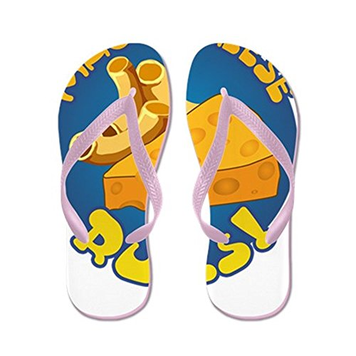 CafePress Mac Cheese Rules - Flip Flops, Funny Thong Sandals, Beach Sandals Pink