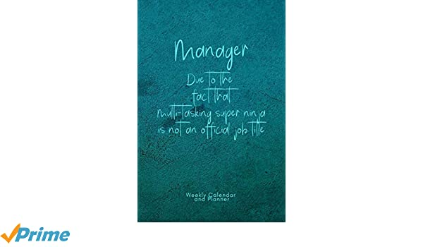 Amazon.com: Manager - Due to the fact that multi-tasking ...