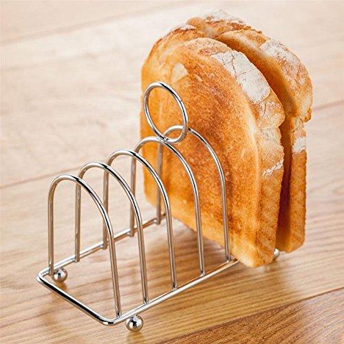 C&L Toast Bread Rack Holder 6 Slice Holes Stainless Steel