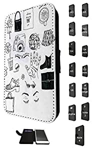 1188 - Girly Needs Hats Shopping Coffee Musix Hair Style Dress Makeup Design Samsung Galaxy Grand Prime Fashion Trend TPU Leather Flip Case Full Case Flip Credit Card TPU Leather Purse Pouch Defender Stand Cover