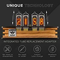 Nixie Tube Clock with IN-14 Replaceable Tubes Visual Effects Motion Sensor