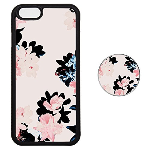 Set Butterfly Socket (iPhone 7 8 PLUS Case + Pop Grip Socket Set, Tire Veins For Corner Top Bottom Protection Unique Design Shock Proof Skill Phone Cover - Pink Butterfly Color Flower)
