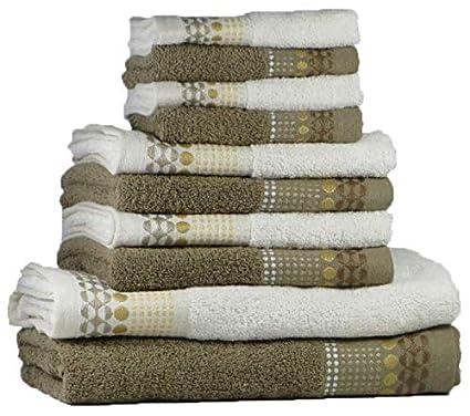Raaf Textil Juego de Toallas DE 10 Piezas-2 Toallas de Baño, 4 DE