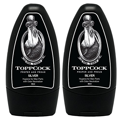 ToppCock Silver Leave-On Hygiene for Man Parts with Odor Neutralizer 90ml (Pack of 2) by ToppCock (Image #2)