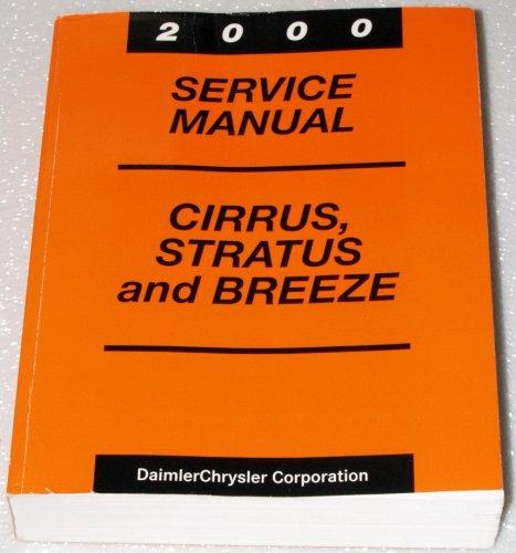 2000 Chrysler Cirrus, Dodge Stratus, Plymouth Breeze Service Manual (JA Platform, Complete Volume)