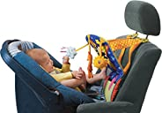 Taf Toys Toe Time Infant Car Seat Toy | Kick and Play Activity Center with Music, Lights, Mirror, and Jingling