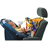 Taf Toys Toe Time Infant Car Seat Toy | Kick and Play Activity Center with Music, Lights, Mirror, and Jingling Toys | Fun Travel Baby Toy for Rear Car Seat | Easier Drive with Newborns, Babies
