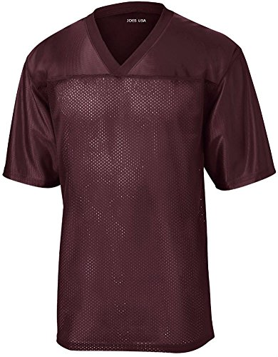 Joe's USA Mens Replica Athletic Football Jersey-Maroon-M
