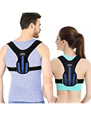 Back Support Posture Corrector Women & Men,APPOLIS Upper Back Straightener Brace,Adjustable Device for Clavicle Support,Comfortable and breathable,Effective Providing Pain Relief From Neck, Back and Shoulder (black)