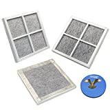 HQRP Pack of 3 Fresh Air Filters for LG LFX25991ST, LFX28968ST, LFX29927ST, LFX29927SW, LFX29927SB, LFX29945ST, LFX31925ST, LFX31925SW, LFX31925SB Refrigerators + HQRP Coaster