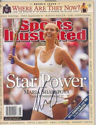 (Maria Sharapova Photograph - Sports Illustrated July 12 19)